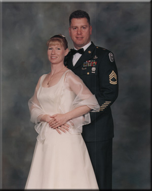 Christina and Richard Meacham, last military ball attended.